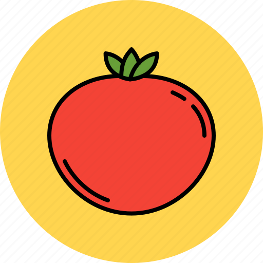 juicy, nutritious, tomato, vegetable icon