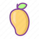 mango, juicy, fruit, healthy, food