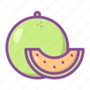 melon, slice, fruit, sweet, food