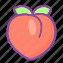peach, fruit, ripe, juicy, food