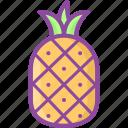 pineapple, fruit, healthy, vitamin, food