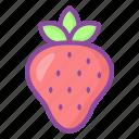 strawberry, sweet, dessert, berry, food