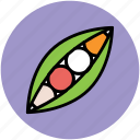food, healthy diet, legume, peas, vegetable icon