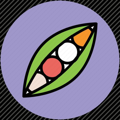 food, healthy diet, legume, peas, vegetable icon