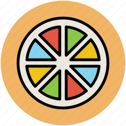 citrus, food, fruit, healthy diet, lemon slice, orange slice icon