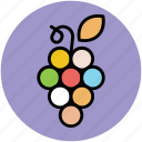 bunch of grapes, food, fruit, gather grapes, grapes, wine grapes icon