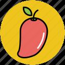 food, fruit, healthy diet, mango, stone fruit icon