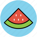 diet, eating, food, fruit, healthy food, watermelon slice icon