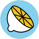 citrus, food, fruit, half lemon, lemon, lime icon