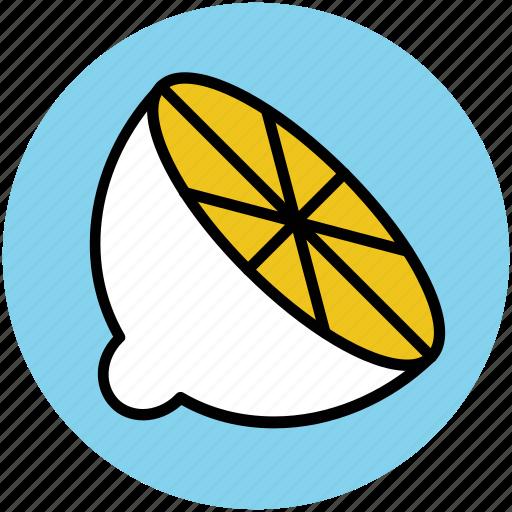 citrus, food, fruit, half lemon, lemon, lime icon