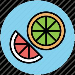 food, fruit, half lemon, half orange, healthy diet, lemon, lime icon