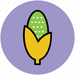 corn, food, maize, pole corn, sugar corn, sweet corn icon