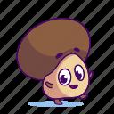 champignon, character, food, mushroom icon
