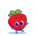 berry, character, food, strawberry icon