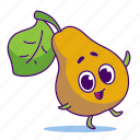 character, food, fruit, pear