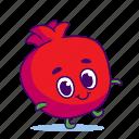 character, food, fruit, garnet, pomegranate
