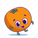 character, citrus, fruit, mandarin icon
