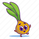 character, food, onion, vegetable icon