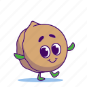 character, food, nut, walnut
