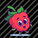 berry, character, food, raspberries, raspberry