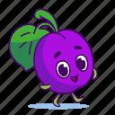 character, food, fruit, plum