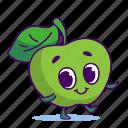 apple, character, food, fruit