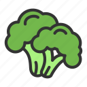 broccoli, crop, food, vegetable icon