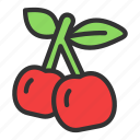 cherry, crop, dessert, fruit icon