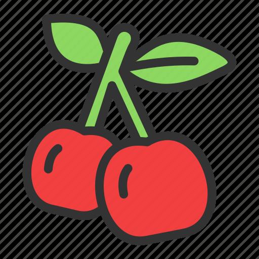 cherry, crop, dessert, fruit icon