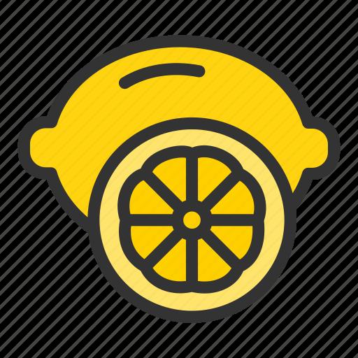 citrus, crop, lemon, orange icon