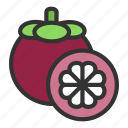 crop, food, fruit, mangosteen, queen icon