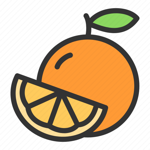 Orange, crop, citrus, juice, sweet icon