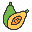 agriculture, crop, food, fruit, papaya icon