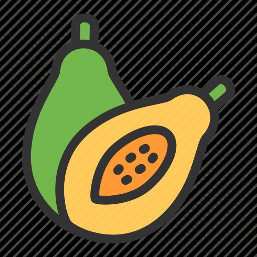 Papaya, crop, food, fruit, agriculture icon - Download