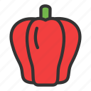 crop, paprica, vegetable, pepper, agriculture, hot, red