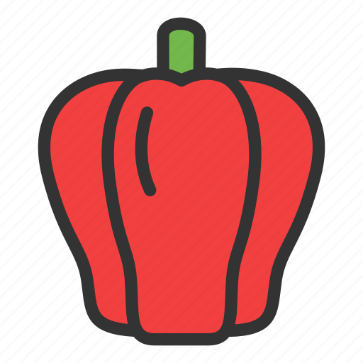 Crop, paprica, vegetable, pepper, agriculture, hot, red icon