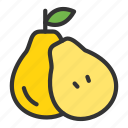 crop, dessert, fruit, pear, sweet icon