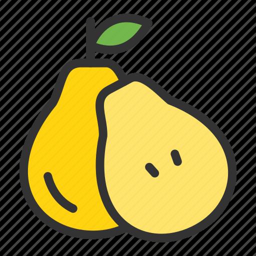 Pear, crop, dessert, fruit, sweet icon - Download