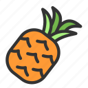crop, fruit, pineapple, spring icon