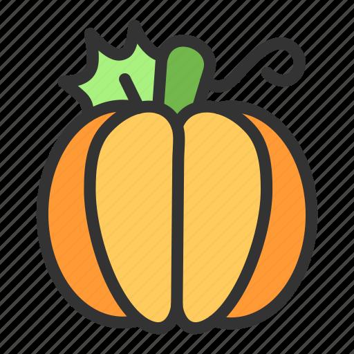 Crop, pumpkin, vegetable, fruit, halloween icon