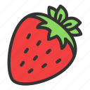 strawberry, fruit, crop, dessert, harvest