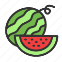 agriculture, crop, food, fruit, harvest, sweet, watermelon icon