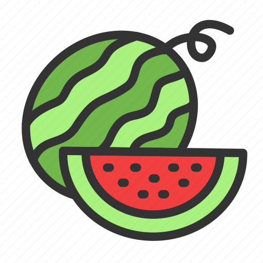 Food, fruit, watermelon, crop, harvest, sweet, agriculture icon