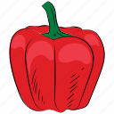 bell pepper, capcicum, food, pepper, sweet pepper, vegetable icon