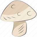 diet, food, fungi, mushroom, mushroom button, toadstool icon