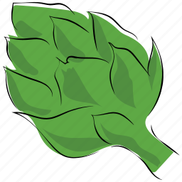artichoke, diet, food, globe artichoke, spice icon