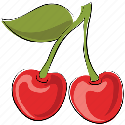 cherries, cherry, cherry fruit, food, fruit, healthy food icon