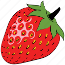 berry, food, fruit, healthy food, red fruit, strawberry icon