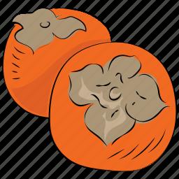 diet, food, fruit, healthy diet, persimmons icon