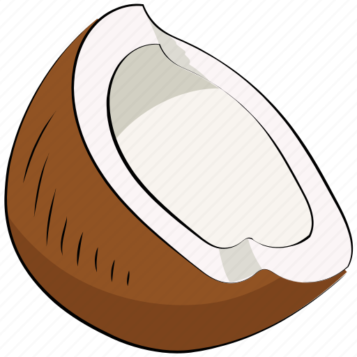 coconut, food, fruit, healthy food, nut, tropical icon